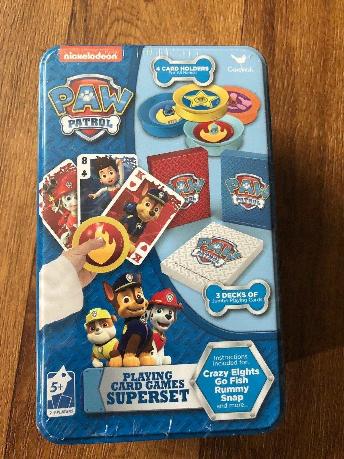 Paw Patrol Card Games Superset