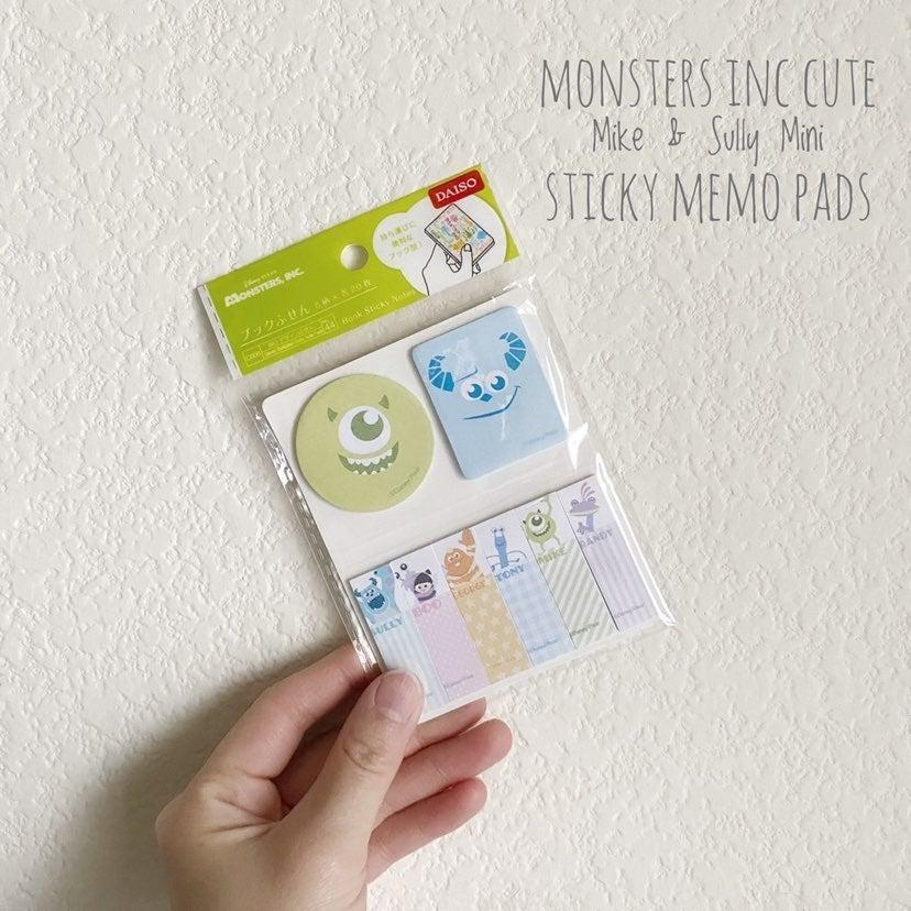 Disney Monsters Inc Sticky Memo Pads