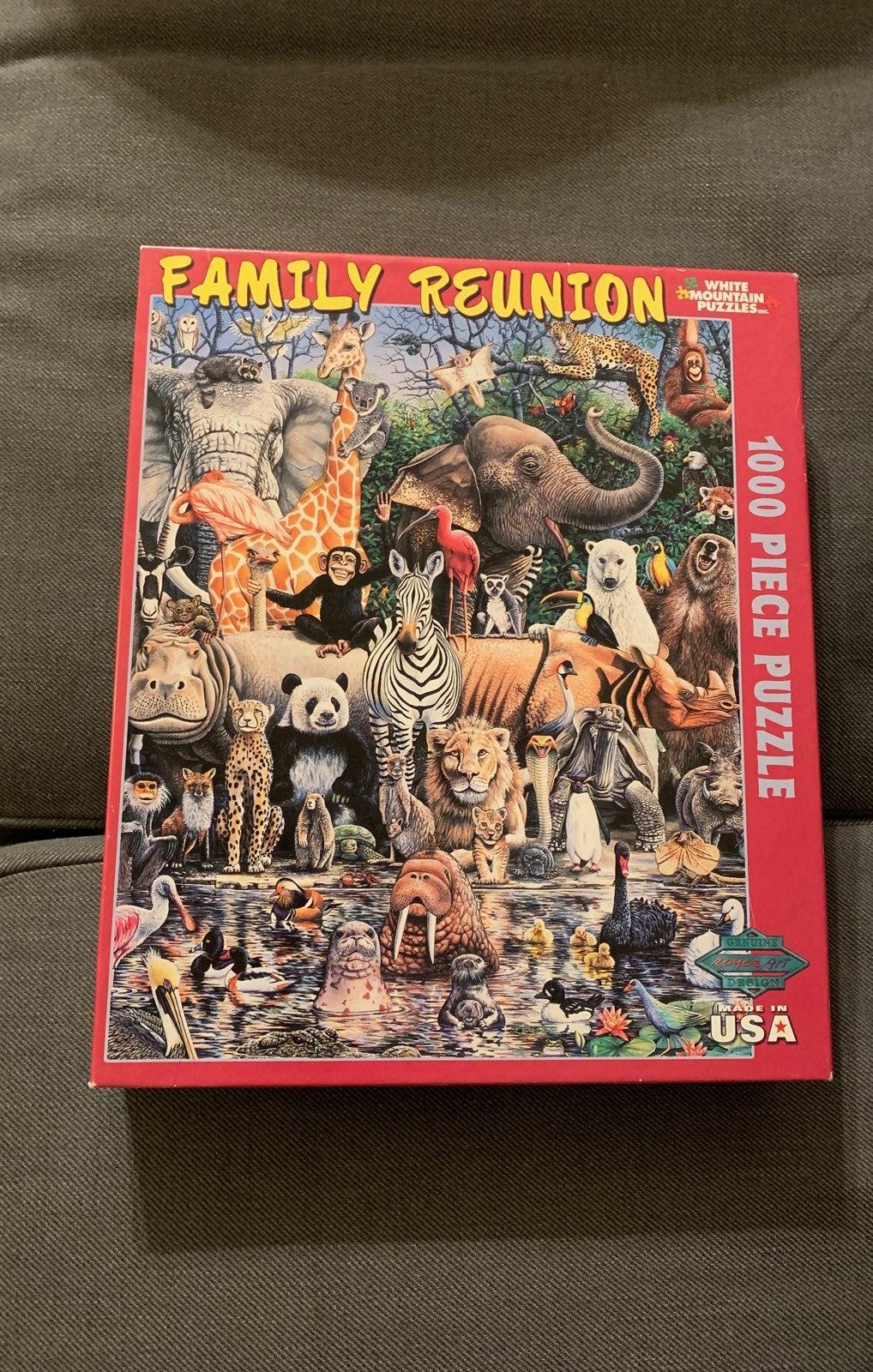 1000 piece puzzle -Animals