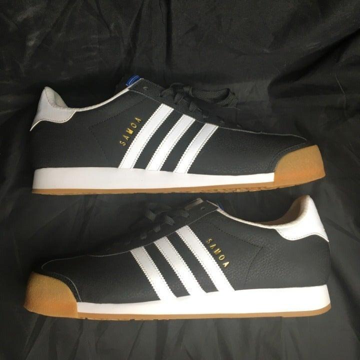 Adidas Samoa (Blk/White/Gold) Mens Sz 13