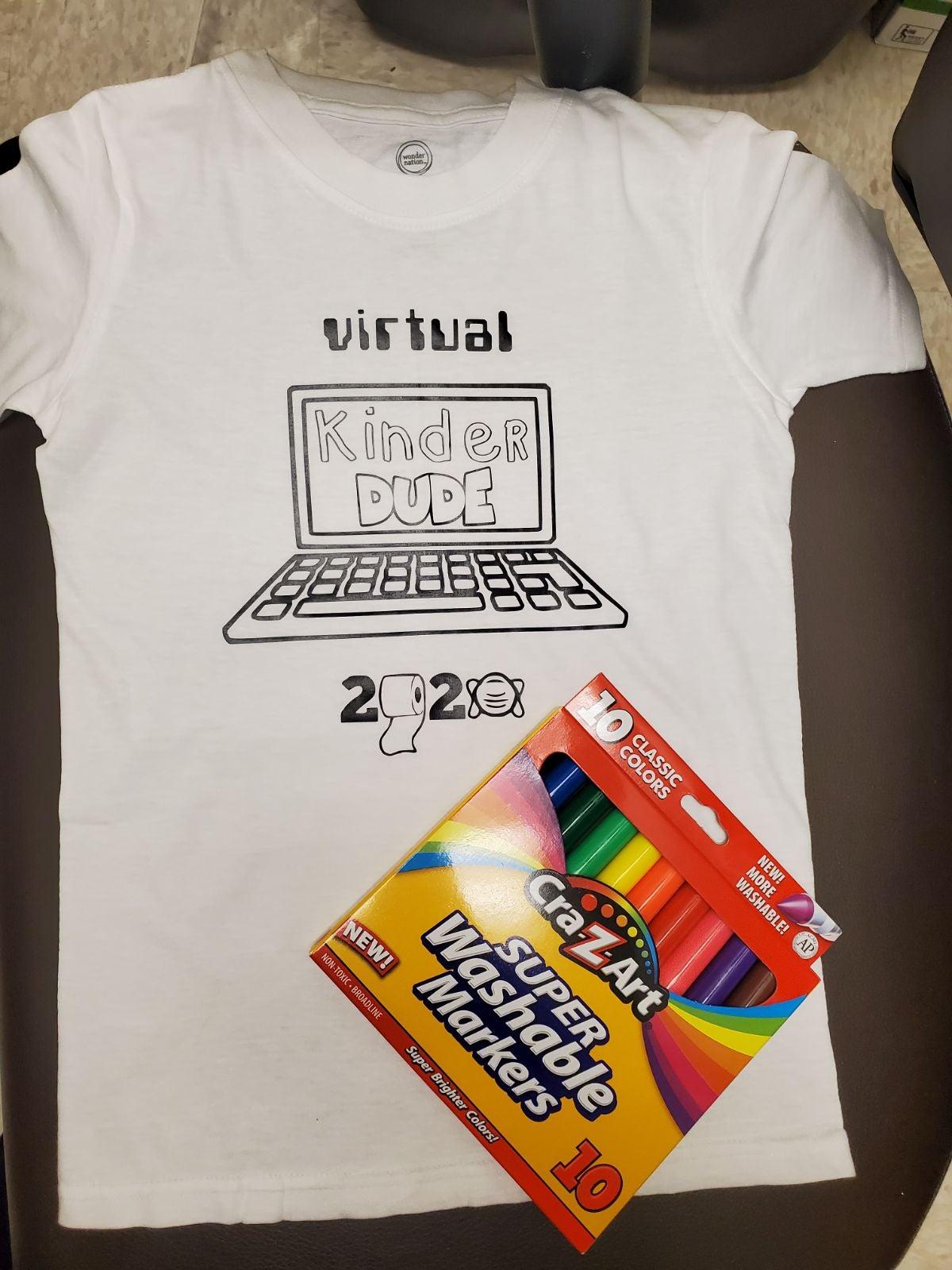 Kindergarten coloring t-shirt