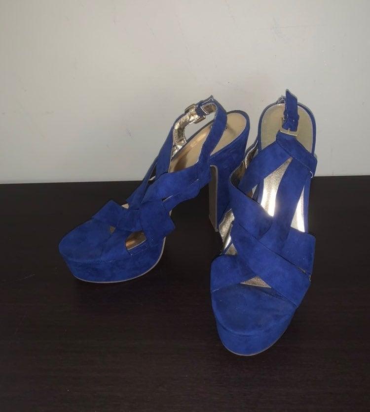 Mossimo | Cobalt Blue Platform Heels (9)