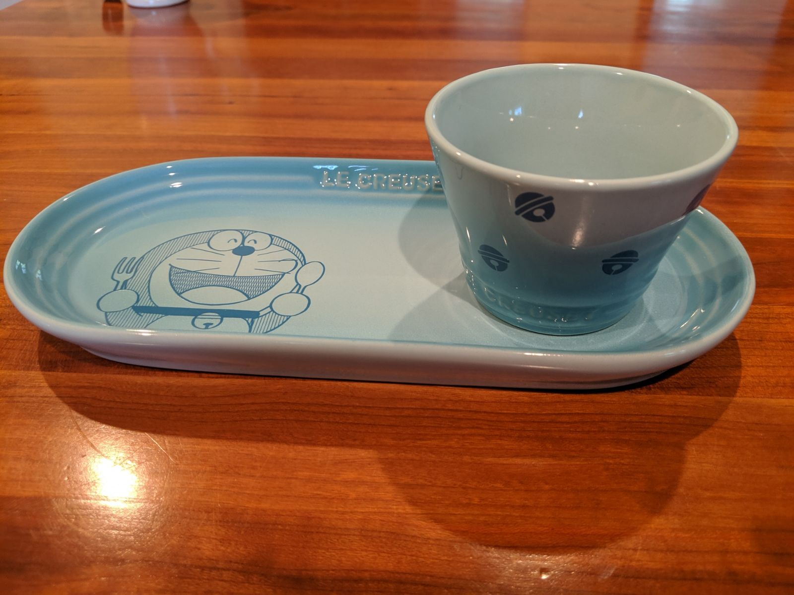 Le Creuset Doraemon oblong plate set