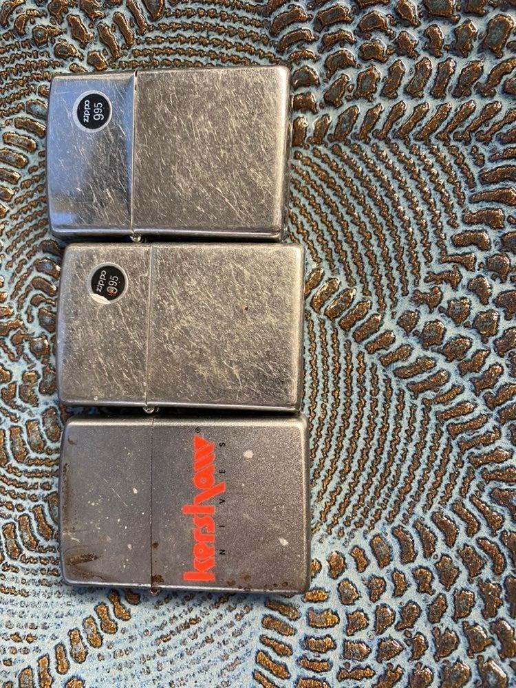 3 Zippo lighters