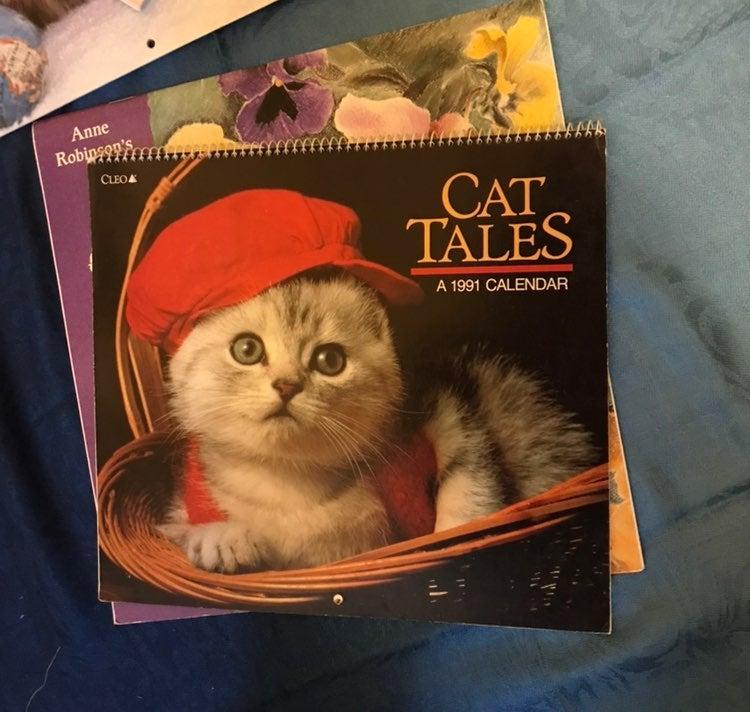 90s Cat Calendars