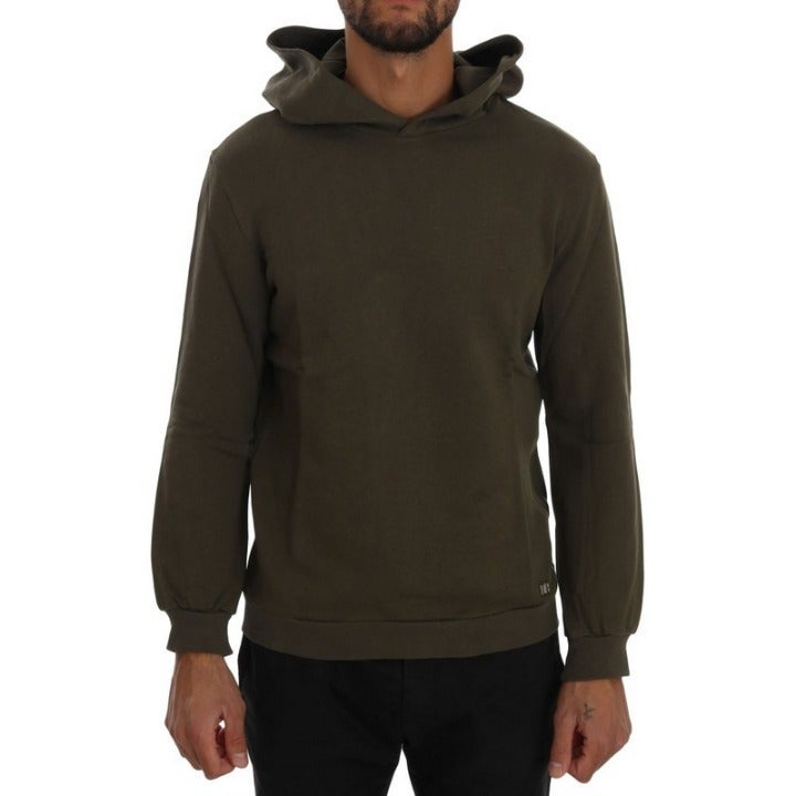 DANIELE ALESSANDRINI MEN'S GREEN SWEATER