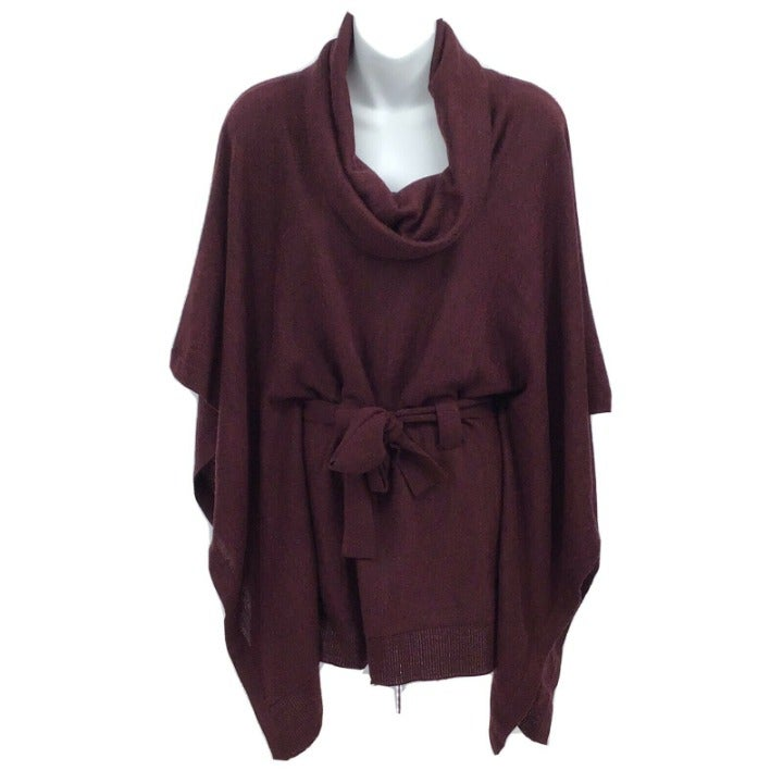 Elena Solano Sz M Belted Pullover Top