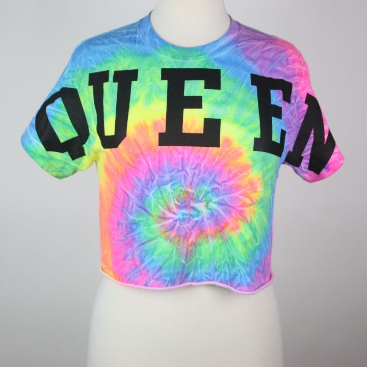 POPULAR SPORTS Tie-Dye Queen Crop Top SM