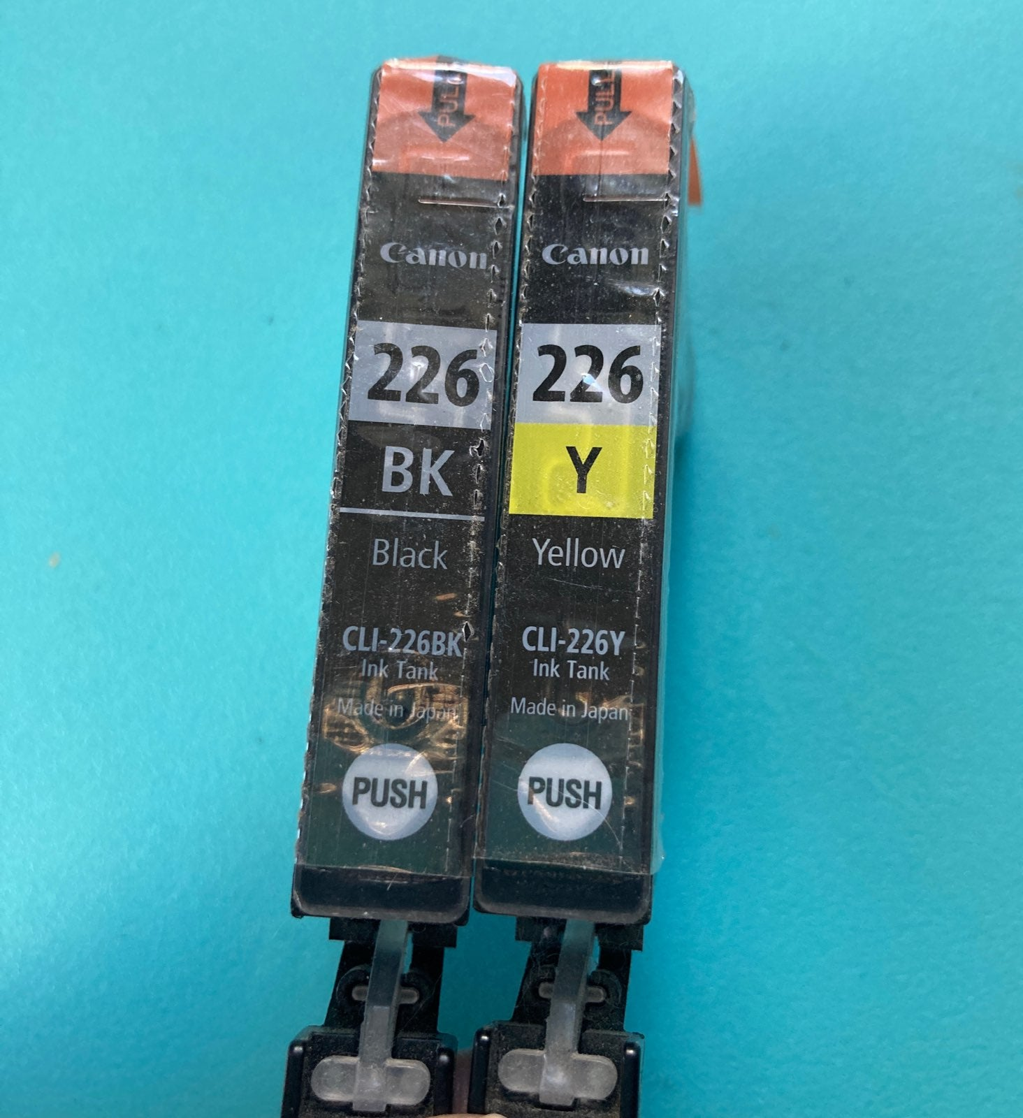 New Canon 226 BK & Y Ink Cartridges