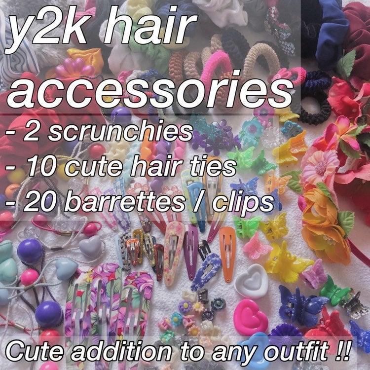 y2k hair accessories hair pieces clips