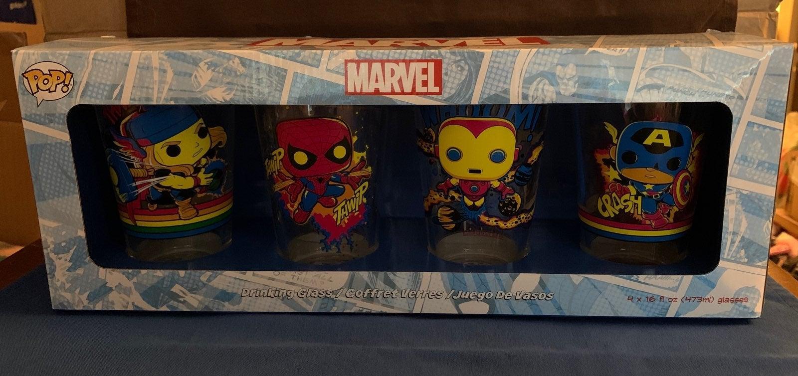 Target Exclusive Marvel 4 pack glass set