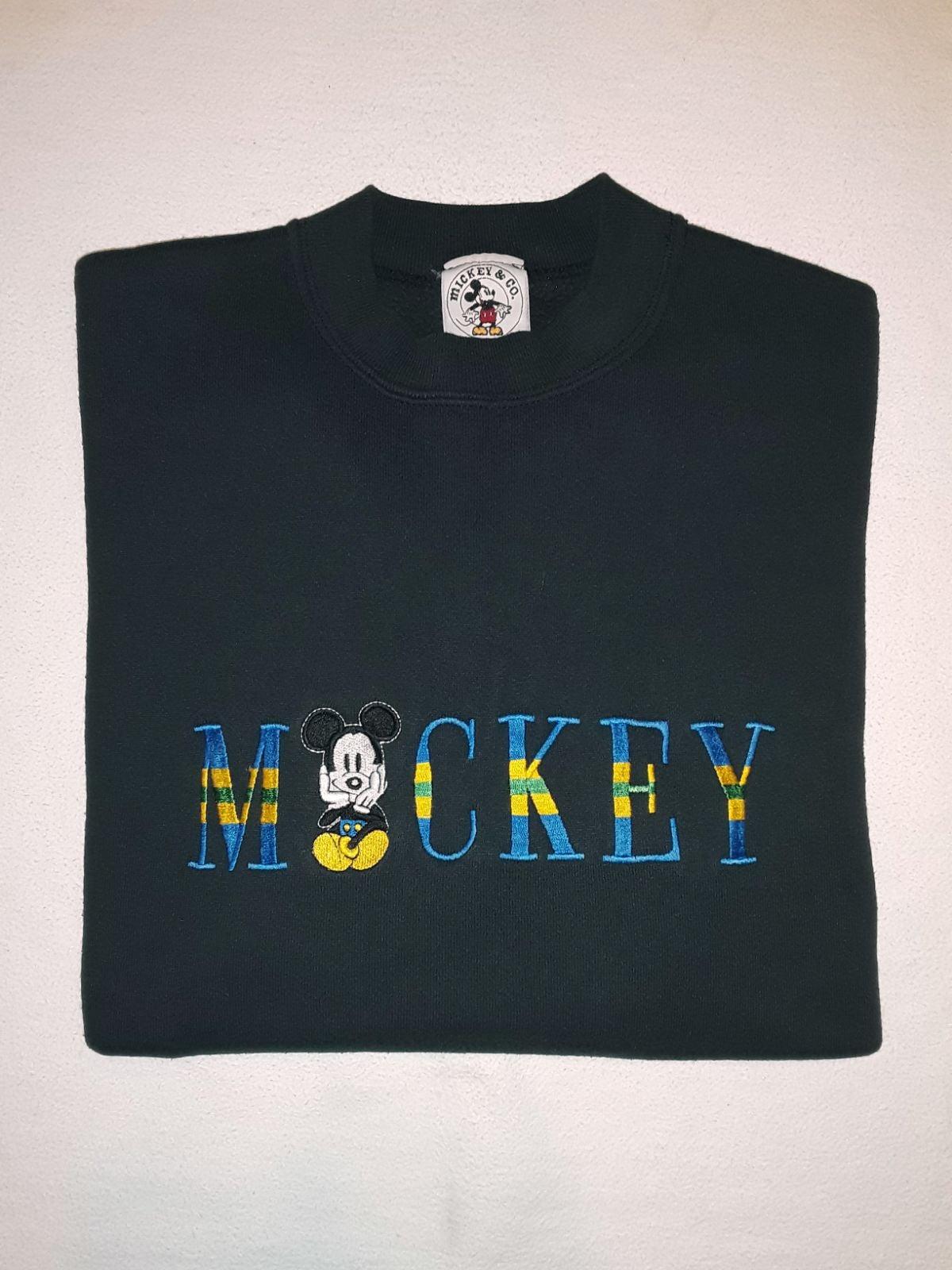 Vtg 90s Mickey Mouse Crewneck L USA Made