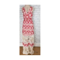 f645df30337 Anthropologie Maxi Dress Red White Print
