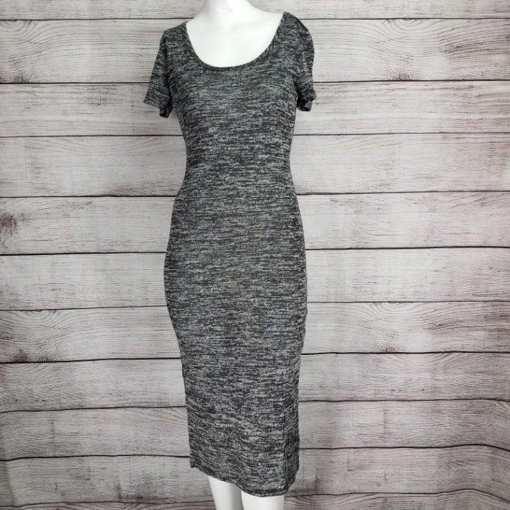 Velvet Torch M Melange Knit Midi Dress