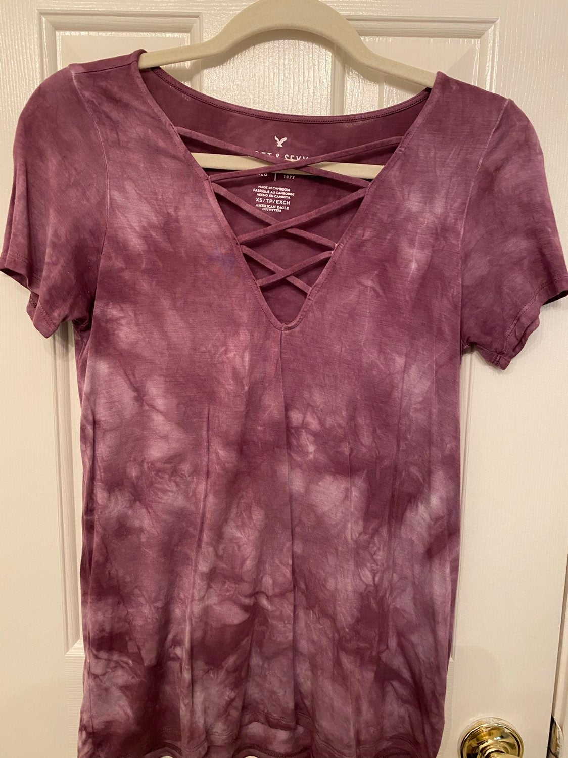 American Eagle Crossed Front Tee