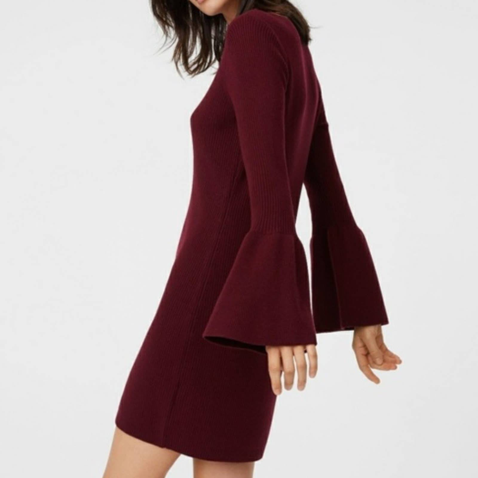 Club Monaco Wool Ribbed Sweater Dress XS