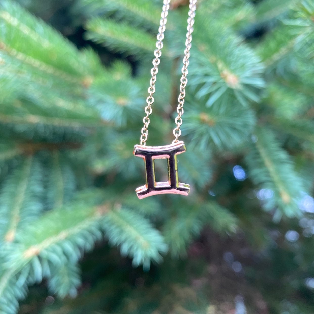 Gemini Necklace - Gold, Astrology,Zodiac