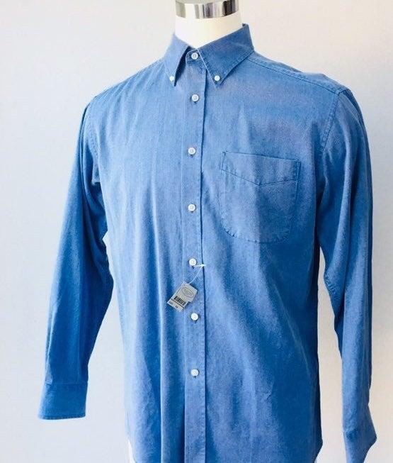 New! Talbots Men Button Down Shirt, M