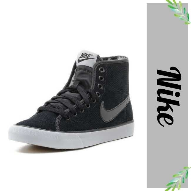 Nike Primo Suede Fur Hi Top Sneakers 8.5