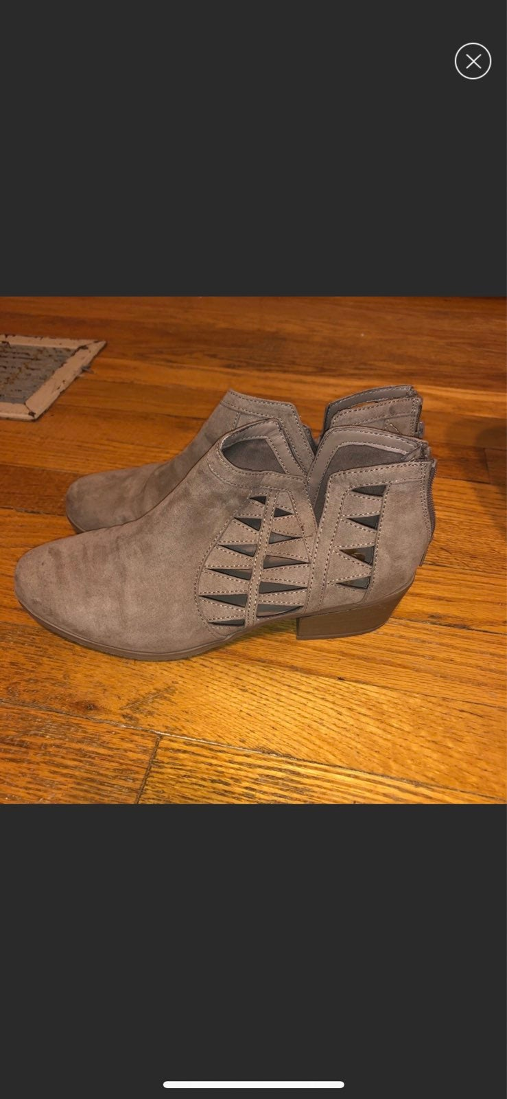 Report Taupe Ankle Booties w/ Back Zip
