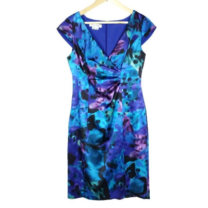 Kay Unger Multi-Color Silk Sheath Dress