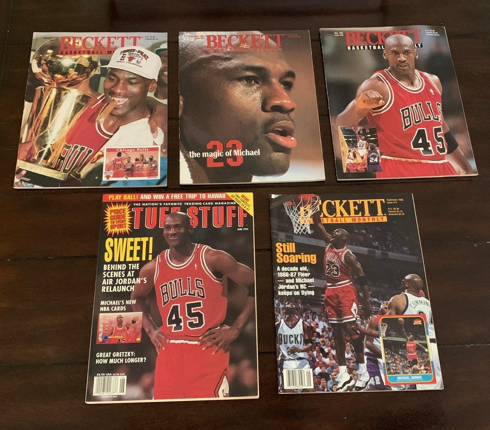 5 Michael Jordon Beckett Magazines