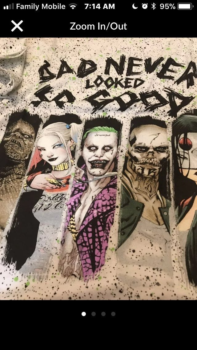 Suicide Squad T-Shirt XXL White Bad