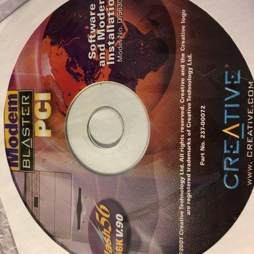 Modem Blaster PCI software install disc