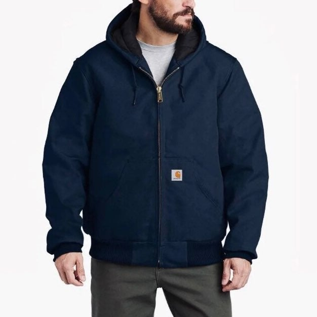 NEW Carhartt duck jacket hooded navy