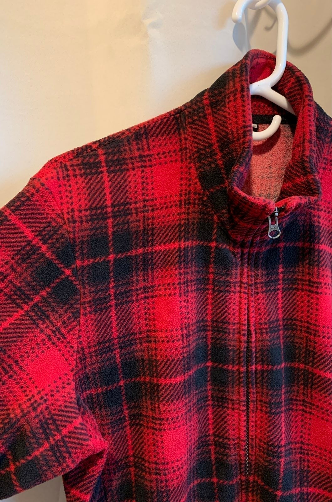 Uniqlo Plaid Fleece Zip-Up