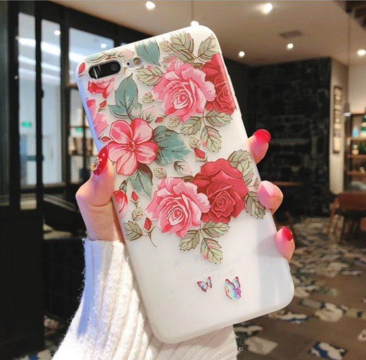 iPhone 7/8 Case Embossed Flower HH NEW