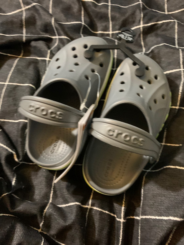 crocs (gray/green/white) c10