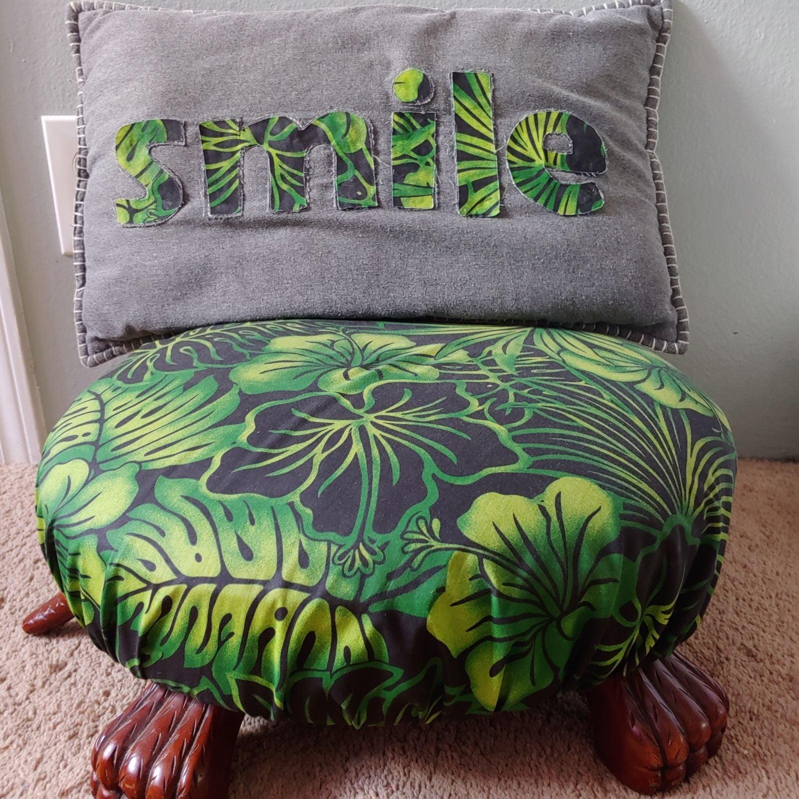 Ottoman & pillow