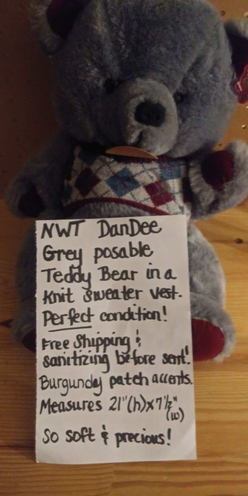Brand New with tags DanDee posable bear