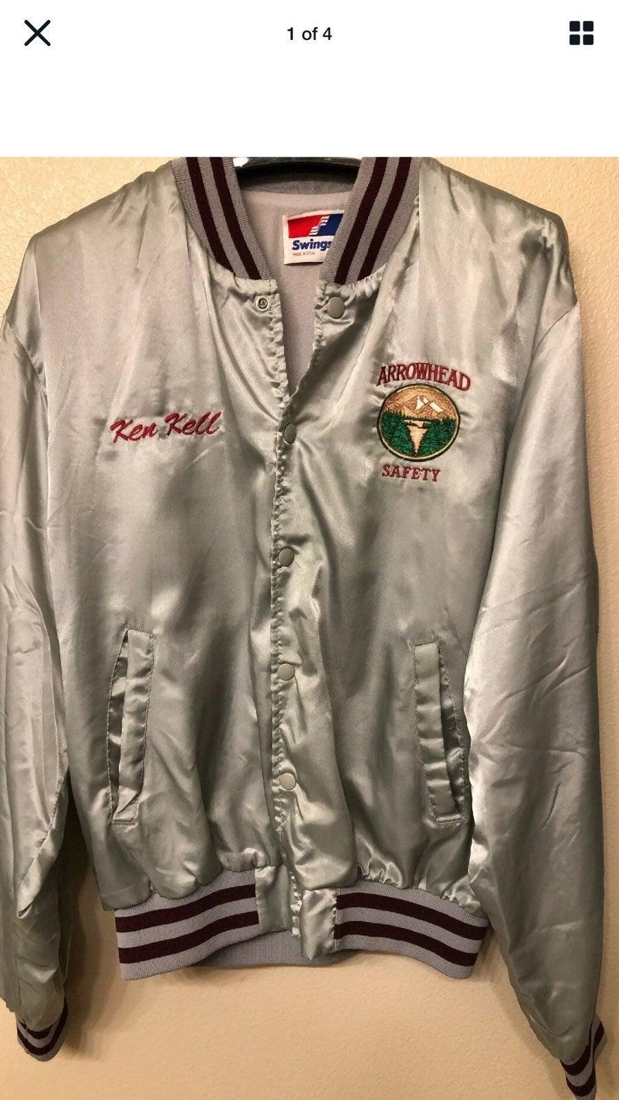 vtg swingster jacket arrowhead uniform