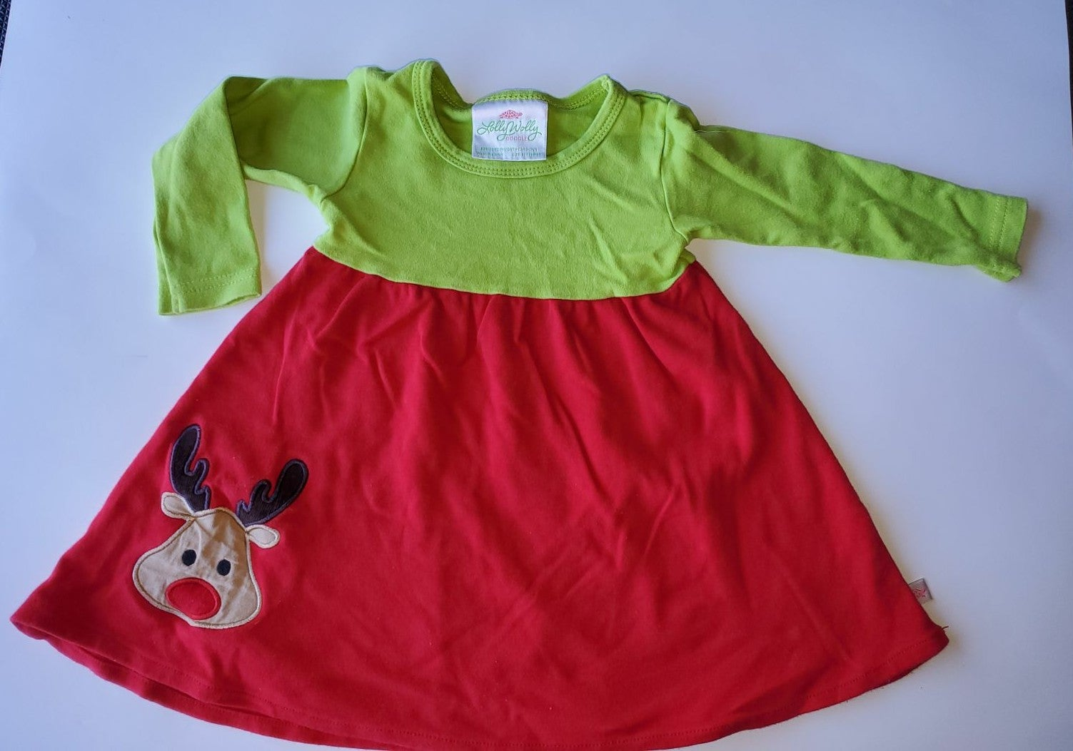 Lolly wolly doodle Reindeer dress red an