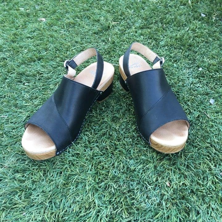 Slingback Peep Toe Heeled Sandal