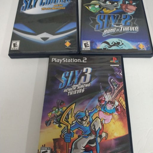 Sly Cooper PS2 entire collection complet