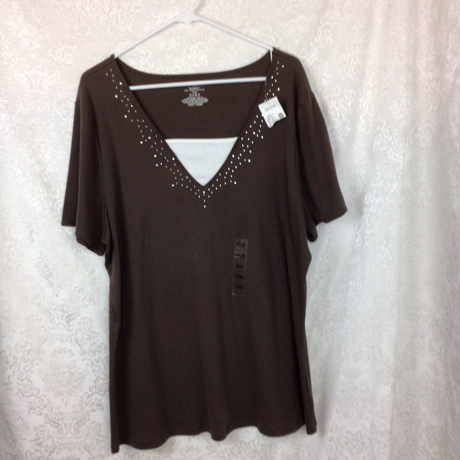 Venezia LB Brown Shirt Jewels 18/20 Read