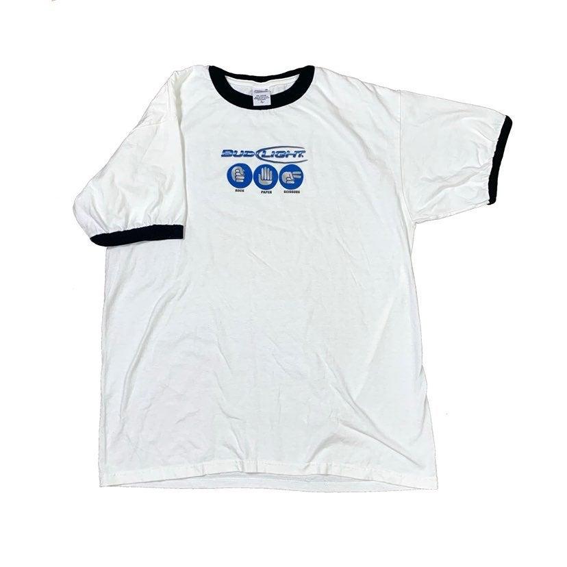 Budweiser Bud Light Ringer T Shirt Large