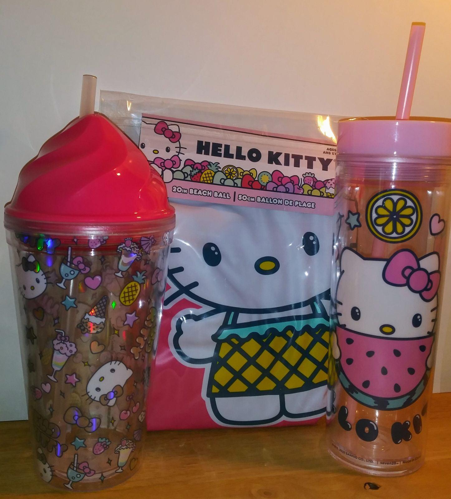 Hello Kitty Tumblers & Beach Ball