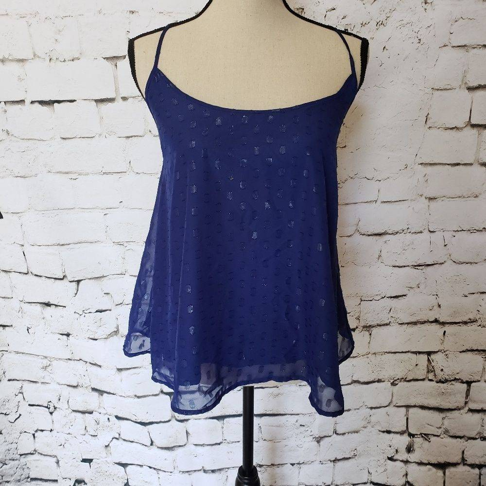 Macbeth Collection Blue Dot Tank Top S