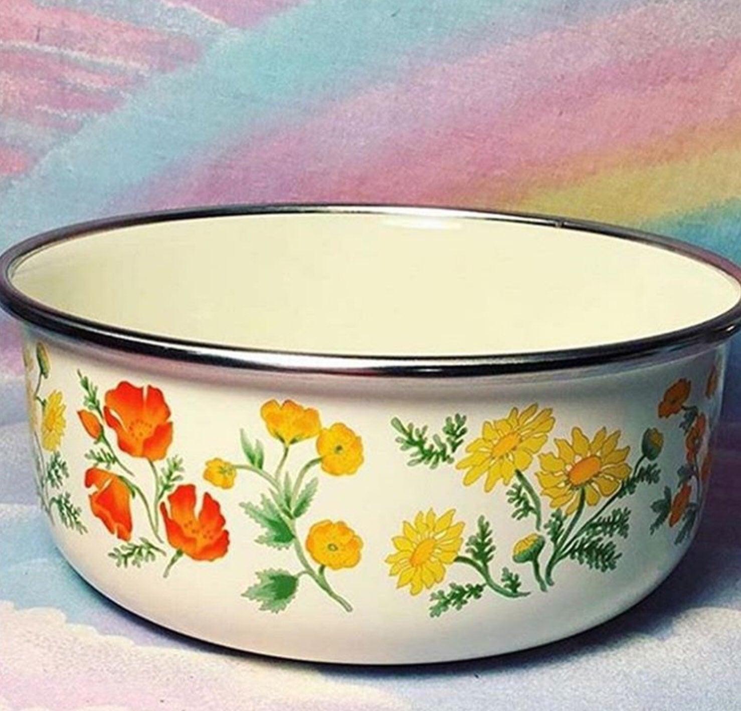 Vintage Floral Kitchen Bowl