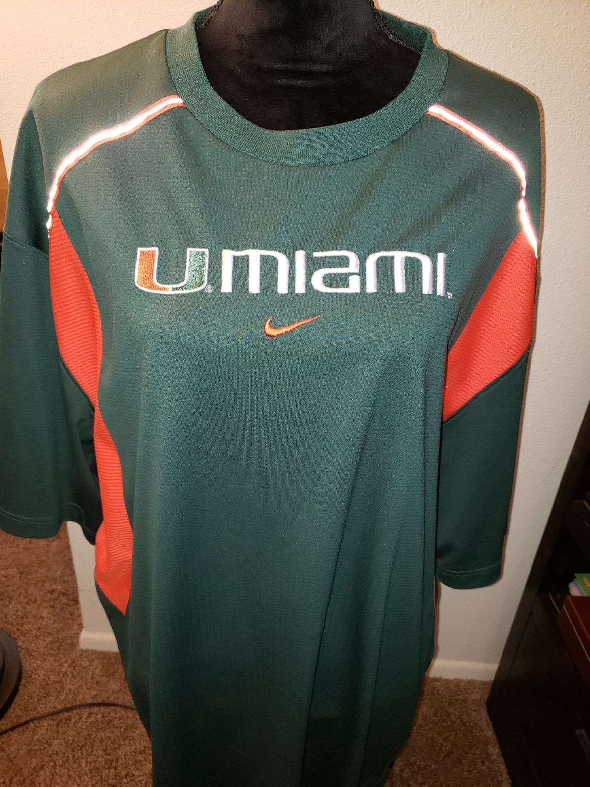 Nike sz. 2xl university of miami mens sh
