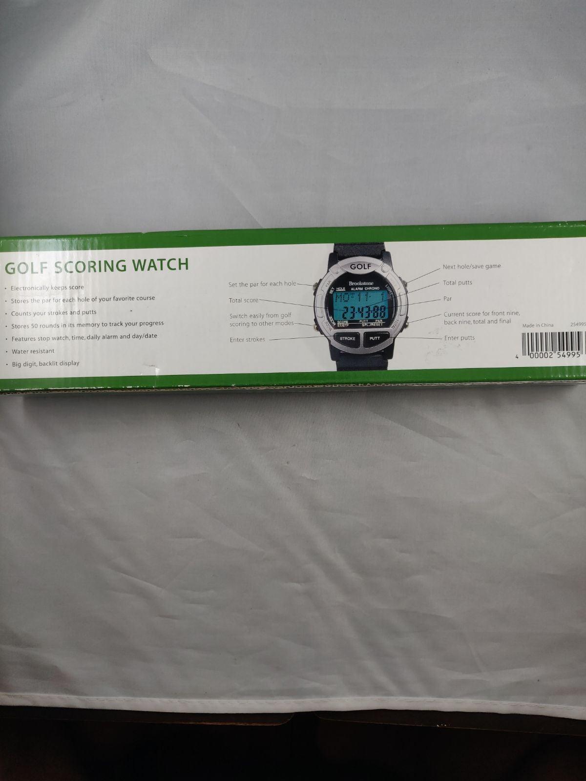 Brookstone electronic golf scoring watch
