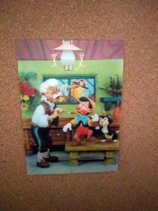 Disney 1966 Lenticular Pinocchio Postcar