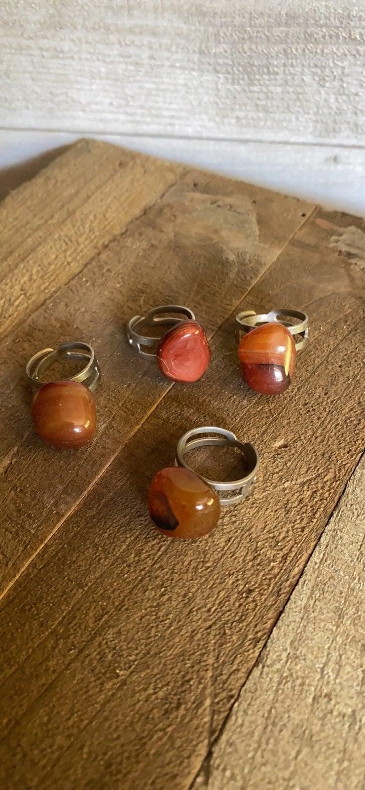 Vintage Adjustable rock rings