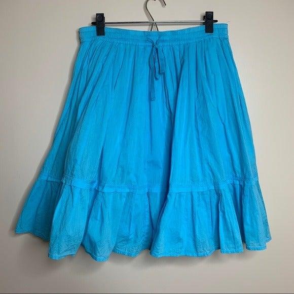 Old Navy Bright Blue Full Midi Skirt