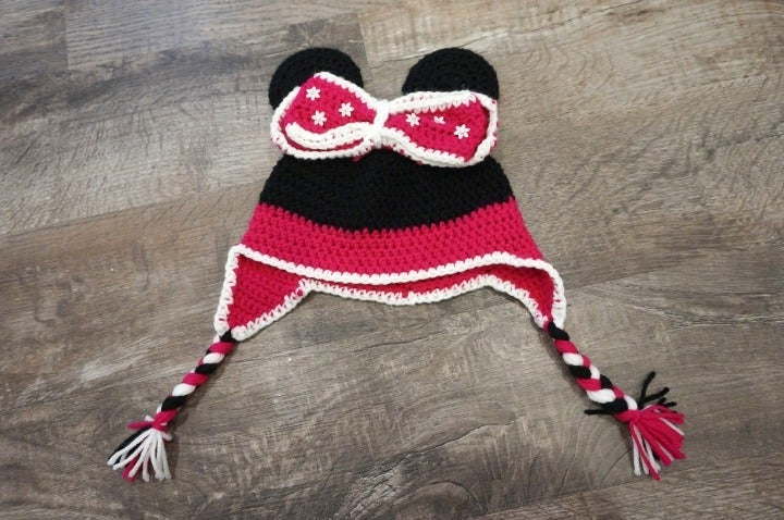 Crochet Disney Minnie Mouse Beanie Hat