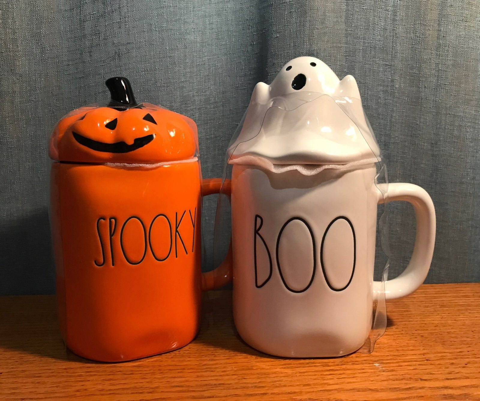 Rae dunn Spooky & Boo mugs